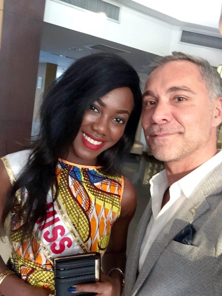 Miss Togo 2015 avec Alexandre BECHER, Directeur Artistique & des Relations Publiques du Pefaco Hotel Maya Maya 5*
